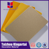 Alucoworld home feeling and warm colors aluminium composite panel building finishing materials image