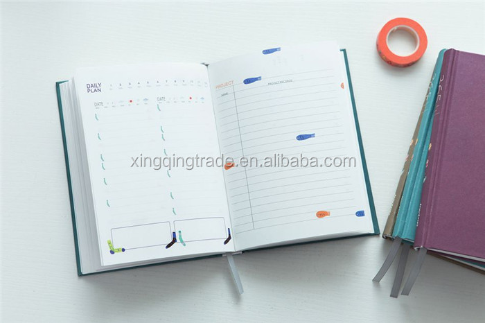 365 Days Personal Diary Planner Hardcover Notebook Weekly Schedule Cute Korean Stationery Flower Agenda