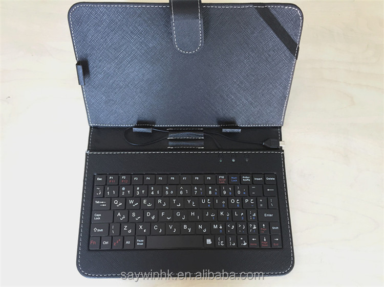7 inch Tablet Keyboard Case with USB cable Arabic keyboard for android tablets