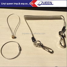 Queen 1 - 1.5m Heavy Duty Spring Steel Safety Tool Lanyards With Strip Hooks