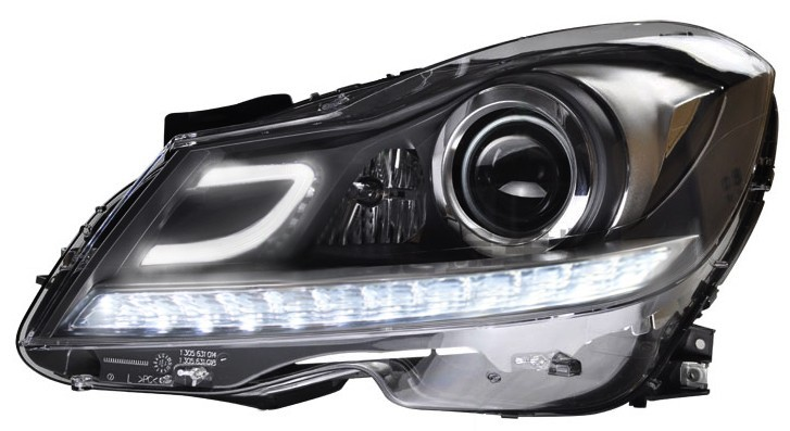 Factory supply All in one hid xenon headlights for Benz C-Class 2012-2013 head lamp with led drl