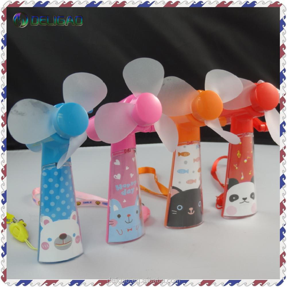 2017 hot new products Portable Kids Toys Manual Handheld Mini Fan No Battery Operated Low-Carbon Cartoon
