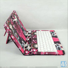 Back Stand Universal USB Keyboard with Leather Case for 7 inch Tablet PC P-UNI7TABCASE015