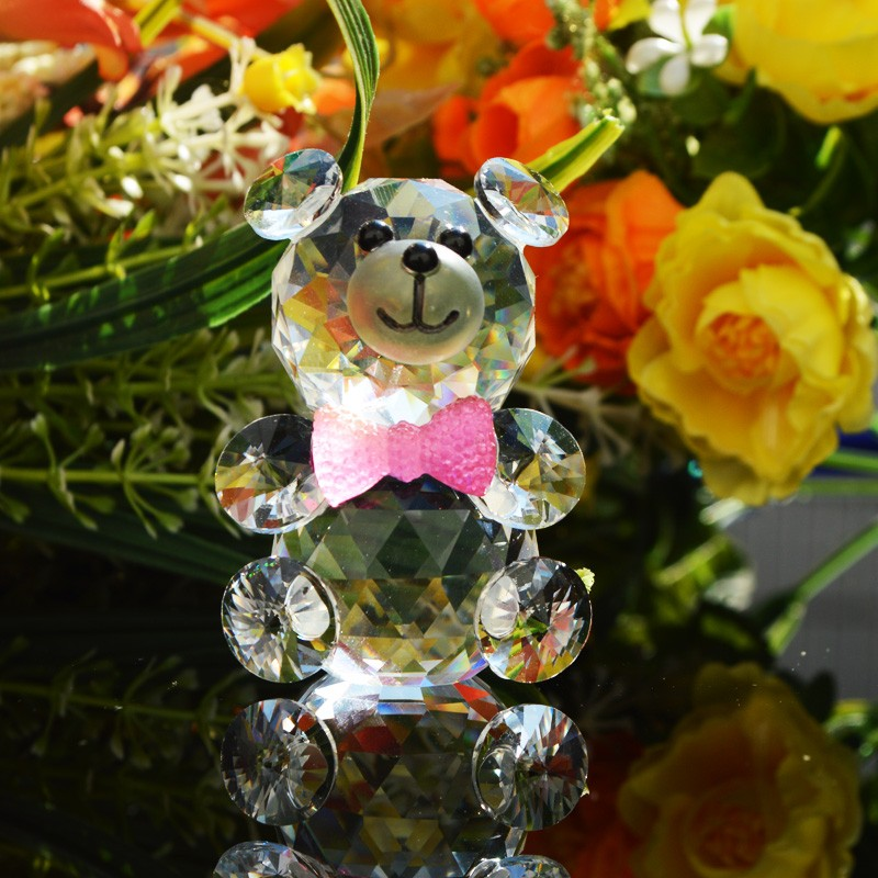 Customed Design Gift Craft Crystal Bear