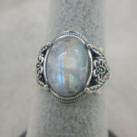 Rainbow Moonstone Natural Gemstone Carving 925
