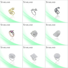 Starland real stone Factory Price Hot Sell Silver Ring Jewelry