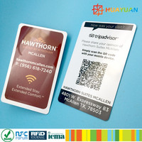 URL TEXT TELE Encoding Ntag215 NFC Smart card with barcode