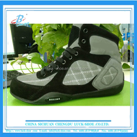 2016 men's high quality suede leather kick boxing shoes wrestling shoes for sale