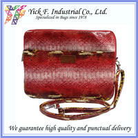 Red Color Snake Pattern PU Leather tablet pouch / tablet sleeve