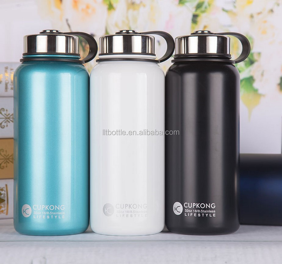 Insulated Stainless Steel 32 oz Water Bottle Wide Mouth vacuum bottle wholesale hydro flask