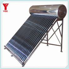 2017 new product famous brand electrical heating element compact non pressure solar water heater