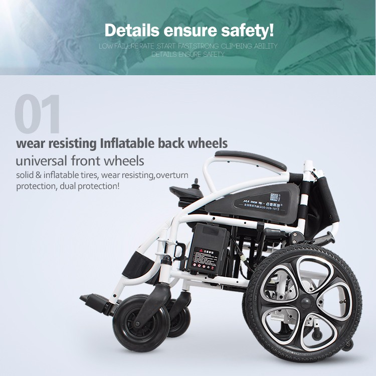 Medical lightweight folding disabled power electric wheelchair with cheap price (3).jpg