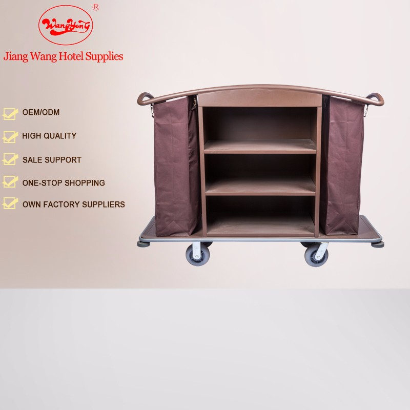 Housekeeping product hotel trolley room service cart with Brown Non-woven Bag