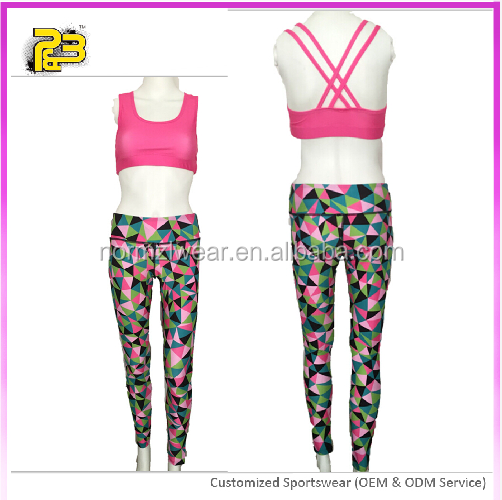 high quality sexi girl yoga leggings subimated printing customized design fitness wear