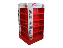 Customize paper soft drink cardboard display stand racks