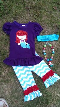 baby girls summer outfits girls mermaid set princess character outfits little girls boutique remake clothing sets girls clothing