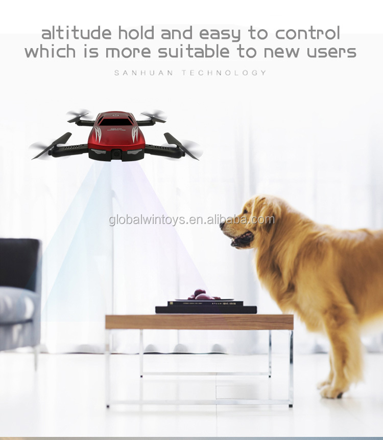 GW186 2017 new foldable mini pocket drone with hd camera control by smartpone voice controll as Chrismas gift vs jy018 low price.jpg