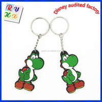 Unique style silicone custom shape keychain, cartoon keychain, cute keychain