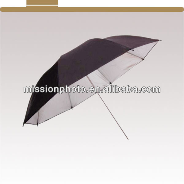 photographic umbrella black/silver reflector diffuser 36""
