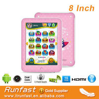 8 inch dual core kids game tablet android made in china