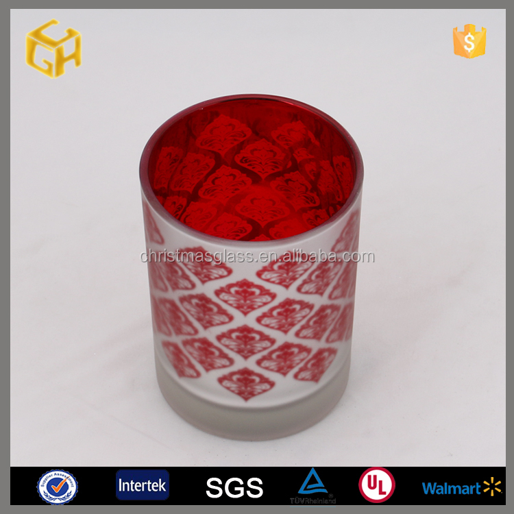 Factory supplier murano glass cross candle holder