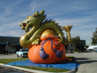 Latest inflatable loong,inflatable Chinese dragon,dragon ball for sale