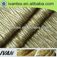 wholesale weft knitted 100% polyester pleated garment fabric for fashion dress