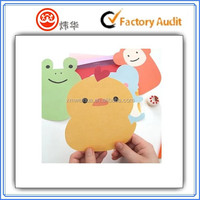 animal shape funny greeting card printing small greeting card in paper craft