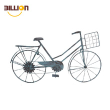 Wrought Iron Bicycle Antique Metal Art Student Bike Wall Hanging Decorations