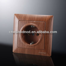 Germany Schuko socket wooden color