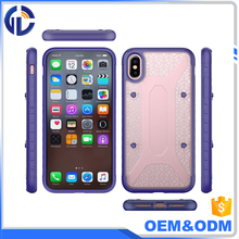 Wholesale Cell Phone Case Transparent Acrylic Back Cover & Soft Tpu Bumper Shockproof Phone Case for Iphone X case