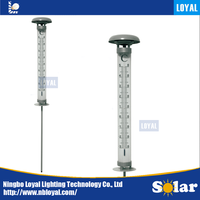 LOYAL Modelling of the thermometer Special design sunpower outdoor solar panel LED decorative garden solar lighting