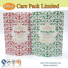 Laminated reusable ziplock cookie package aluminum foil lined bags