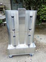 200L stainless steel water barrel with wheels
