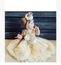 Baby Infant Costume Outfit Cute Princess Tutu Skirt Handmade Crown Headband Baby Girl Dress Newborn Photography Props