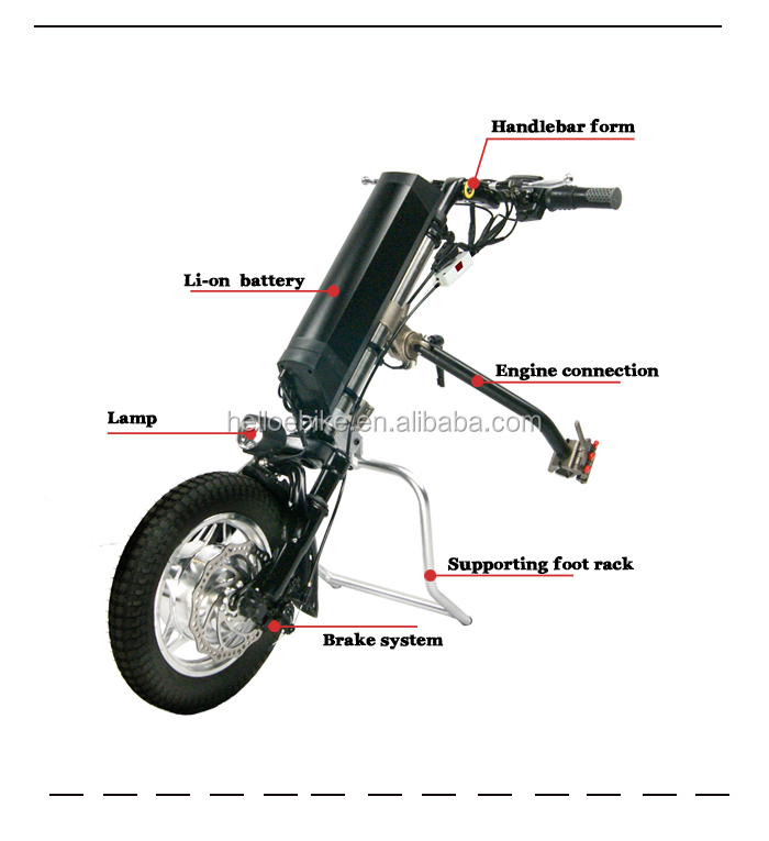 Long running time lithium battery supply wheelchair handcycle for sale