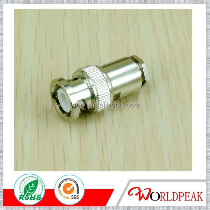 Waterproof bnc connector crimp Male Compression Connector for RG59 Cable Gold / CCTV Connector