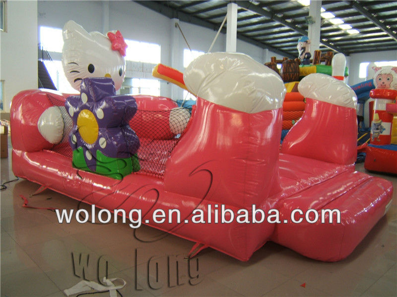 inflatable bouncer combo, hello kitty jumping castle