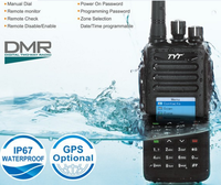 Tytera TYT newest dmr walkie talkie MD-390 GPS optional IP67 waterproofed+1pc earphone+1pc promgram cable