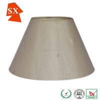 contemporary design modified drum silver silk fabric lighting shade