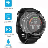 Premium 9H Tempered Glass Screen Protector Skin Watch Protective Film Guard for for Garmin Fenix 3