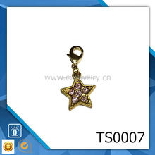 zodiac charms necklace clip pendant fashion jewelry silver dumbbell pendant