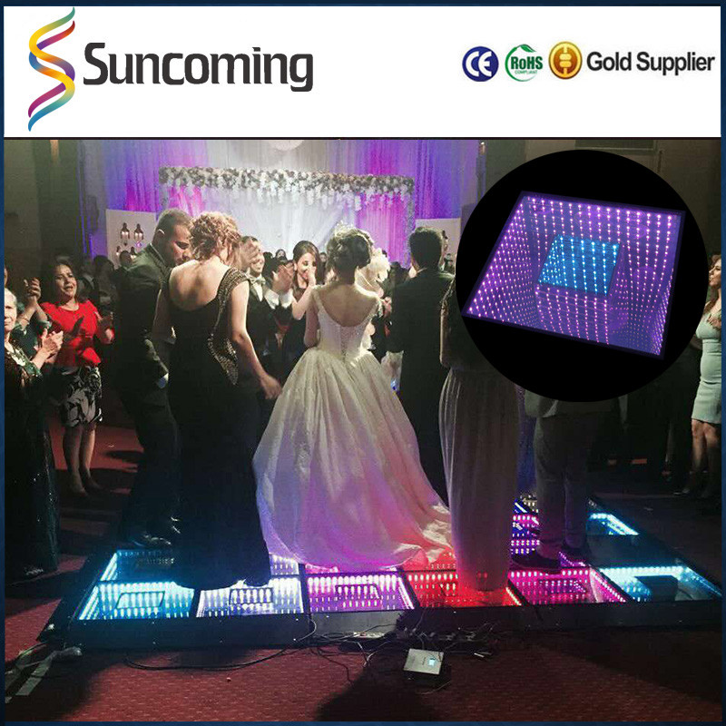 Make Wedding Club Colorful Disco Stage Portable Mirror Led Dance Floor 3D