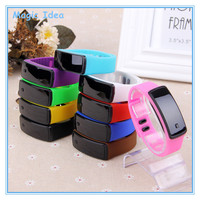 Colourful Rubber Bracelet LED Digital Display