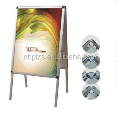 outdoor aluminum double sided a1 poster board for shop advertising stand