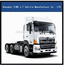 Dolichocephaly tractor/HINO high quality and low price 6*4tractor truck/long head trailer head
