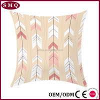 custom square cotton rattan sofa cushion covers arrows feather design