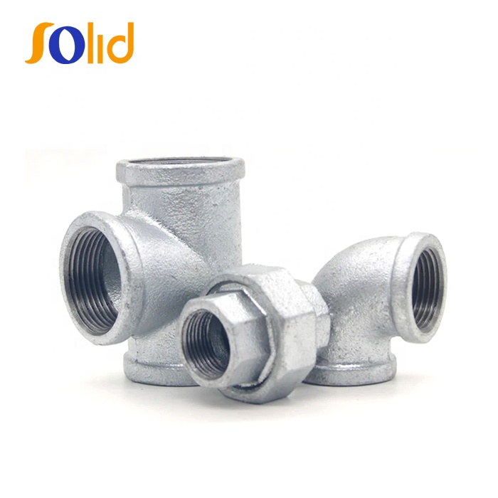 Manufacturer Hot Dip Galvanized Malleable Casting Iron GI BSP NPT Thread Pipe Fitting