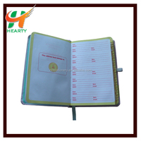A6 Hardcover address book pocket book