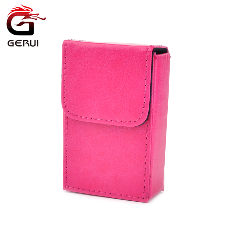 GR-158N GERUI Ladies High-end Products Automatic Timer Lock Leather Cigarette Case